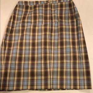 Mimi Maternity Plaid ZIP Front Skirt Size M